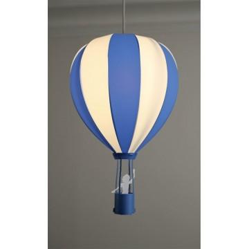 Suspension MONTGOLFIERE, Bleue, 1 lumière.