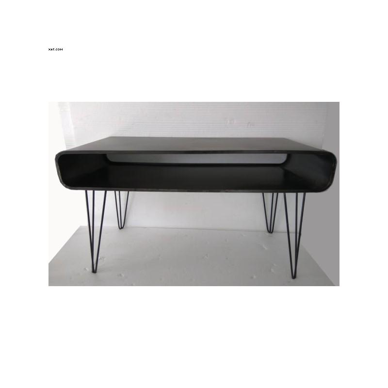 Basse Noir Métal Acier Vernis Table BoQrdxCWe