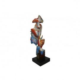 Sculpture Homme Silencieux, Métal  Multicolore.