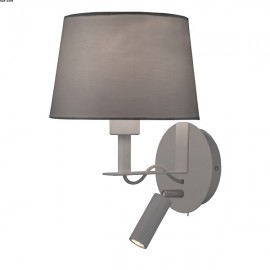 Applique METIS, Gris, 1 lumière et liseuse LEDS Intégrées
