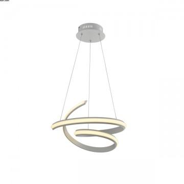 Suspension VIRGULE, Blanc Mat, LEDS Intégrées