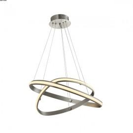 Suspension Alu Nickel Satiné LEDS Intégrées