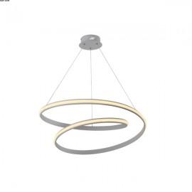 Suspension ELLIPSE, Nickel Satiné, LEDS Intégrées, D55
