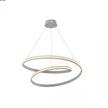 Suspension Alu Nickel Satiné LEDS Intégrées D55