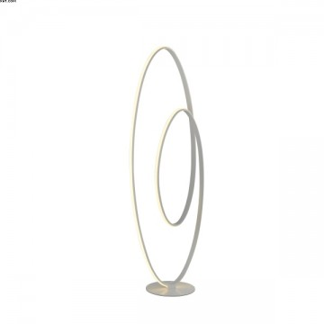 Lampadaire VORTEX Alu Nickel Satiné