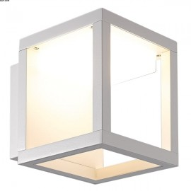 Applique Extérieure CUBO, Blanc Mat, LEDS Intégrées
