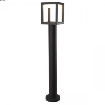 Borne extérieure alu Noir Mat LEDS intégrées