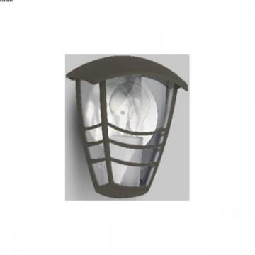 Applique  extérieure 1 lumière Fonte d'alu et verre IP 44