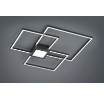 Plafonnier Noir LED Intégrées