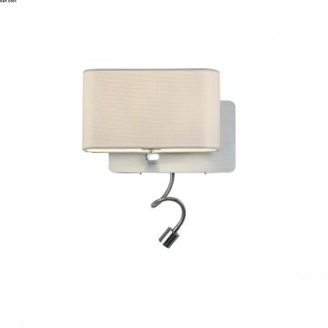 Applique 1 lumière avec liseuse LED intégrée
