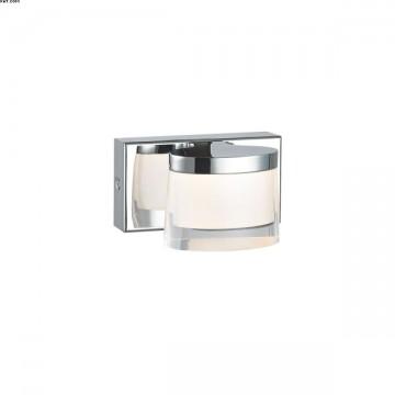 Applique CLAUDIA 1 lumière chrome LED intégrées