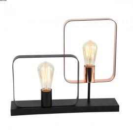 Lampe ECHO 2 lumières Noir et Cuivre