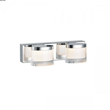 Réglette CLAUDIA deux lumières Chromée LEDS Intégrées