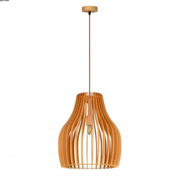 Suspension MISTRAL en bois naturel D30cm