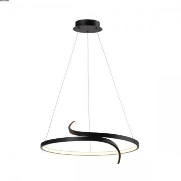 Suspension TRINIT LED intégrées Noir
