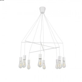 Suspension POPY Blanche 8 Lumières