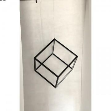 Suspension BEAUBOURG LEDS Intégrées Noir