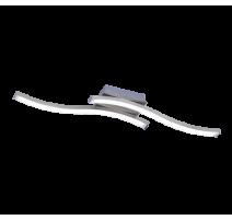 Plafonnier ROUTE, Nickel Mat, LEDS Intégrées