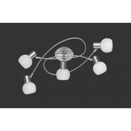 Plafonnier ANTIBES, Nickel, 5 lumières