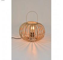 Lampe VEGAS, Rotin et Laiton, 1 lumière