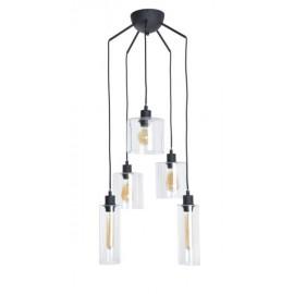 Suspension ILO-ILO, Noire, 5 lumières