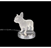 Lampe DOG, Chrome, LEDS Intégrées