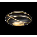 Plafonnier FARO, Noir et Or, 3 lumières, D50