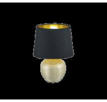 Lampe LUXOR, Or et Noir, 1 lumière, PM