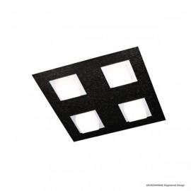 Plafonnier BASIC, Noir Mat, 4 LEDS Intégrées