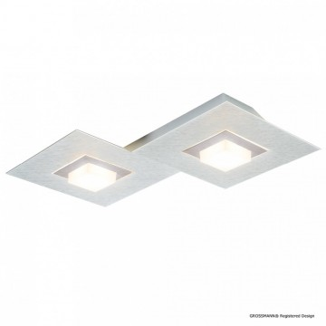 Applique KARREE, Aluminum et Titan Mat, LEDS Intégrées