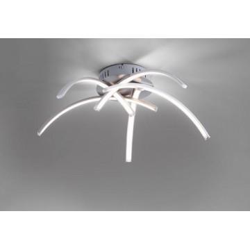 Ras de plafond VALERIE, Nickel, 5 LEDS Intégrées