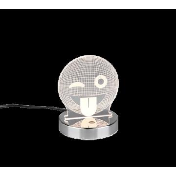 Lampe SMILEY, Chrome, LEDS intégrées RGB