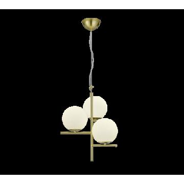 Suspension PURE, Laiton Mat, 3 lumières