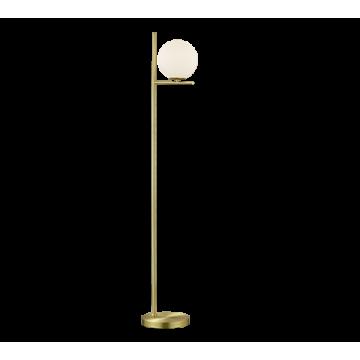 Lampadaire PURE, Laiton Mat, 1 lumière, verre opale.