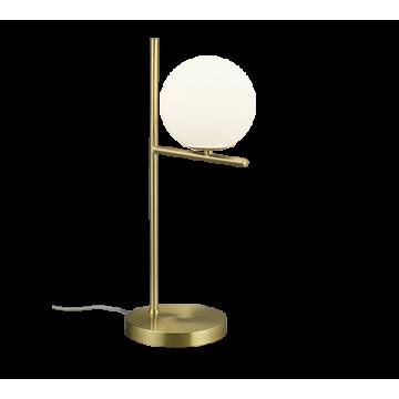 Lampe PURE, Laiton Mat, 1 lumière, verre opale.