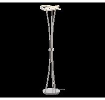 Lampadaire OAKLAND, Nickel Mat, LEDS Intégrées