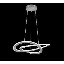 Suspension OAKLAND, Nickel Mat, LEDS Intégrées