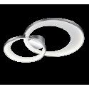 Plafonnier GRANADA, Chrome et Blanc, LEDS Intégrées