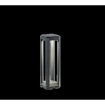 Borne LOGONE, Anthracite, LEDS Intégrées, H50.