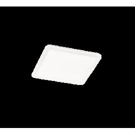 Plafonnier CAMILLUS, Blanc, LEDS Intégrées, Carré, 40cm