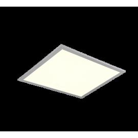 Plafonnier ALIMA, Titane et Blanc, LEDS Intégrées, carré