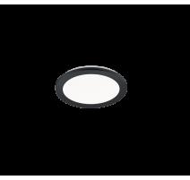 Plafonnier CAMILLUS, Noir Mat, LEDS Intégrées, Rond, 26cm