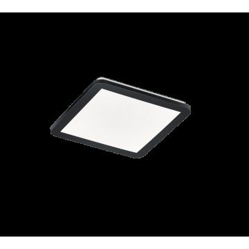 Plafonnier CAMILLUS, Noir, LEDS Intégrées, Carré, 30cm