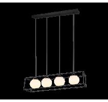 Suspension GABBIA, Noir, 4 lumières.