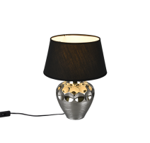 Lampe LUANDA, Argent, 1 lumière, 40cm