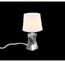 Lampe ABEBA, Argent, 1 lumière, 28 cm.
