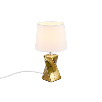 Lampe ABEBA, Or, 1 lumière, 28 cm.