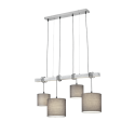 Suspension PADME, Nickel satiné, 4 lumières