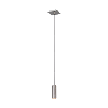 Suspension MARLEY, Nickel Satiné, 1 lumière.