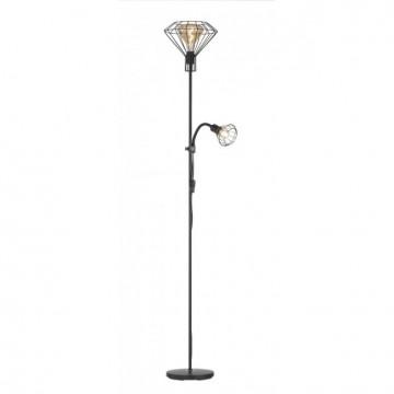 Lampadaire STEV, Noir, 2 lumières
